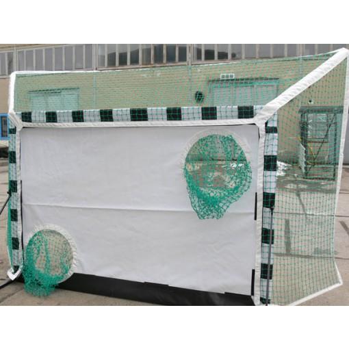 Fangnetz in Torschusslöchern für Alu-Torwand